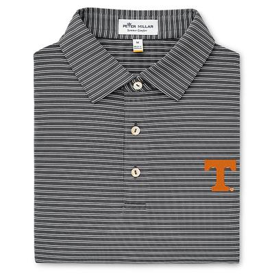 Tennessee Peter Millar Stripe Stretch Jersey Polo