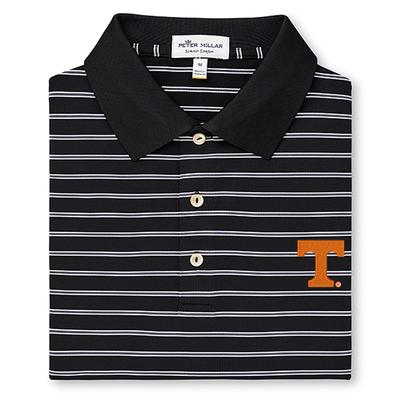 Tennessee Peter Millar Senior Stripe Stretch Jersey Polo