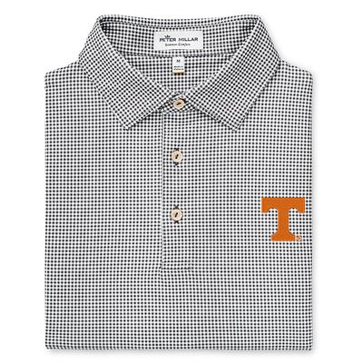 Tennessee Peter Millar Greek Gingham Stretch Jersey Polo
