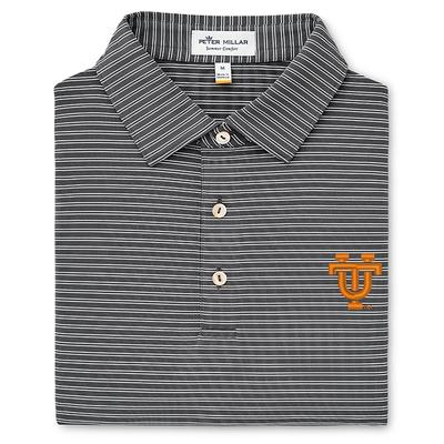 Tennessee Peter Millar Vault Logo Stripe Stretch Jersey Polo