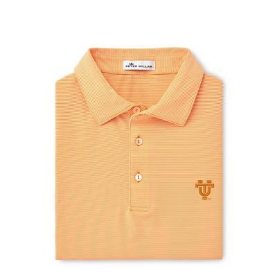 Tennessee Peter Millar Vault Logo Jubilee Stripe Jersey Polo