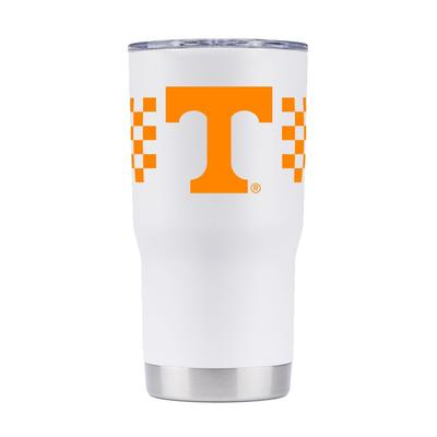 Tennessee Gametime Sidekick 20oz Checkerboard Striped Tumbler With Lid