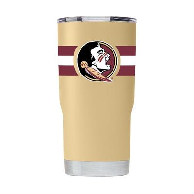 Florida State Gametime Sidekick 20oz Striped Tumbler With Lid
