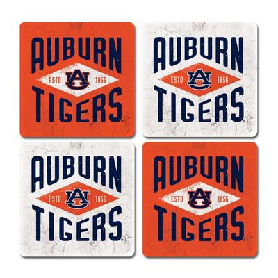 Auburn Legacy Diamond Coaster Set - 4 Pack