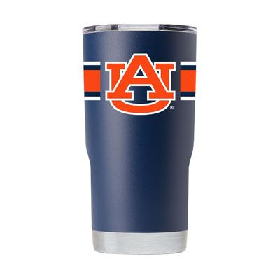 Auburn Gametime Sidekick 20oz Striped Tumbler With Lid