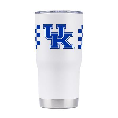 Kentucky Gametime Sidekick 20oz Striped Tumbler With Lid