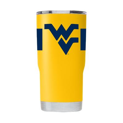 West Virginia Gametime Sidekick 20oz Striped Tumbler With Lid