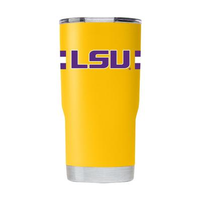 LSU Gametime Sidekick 20oz Striped Tumbler With Lid