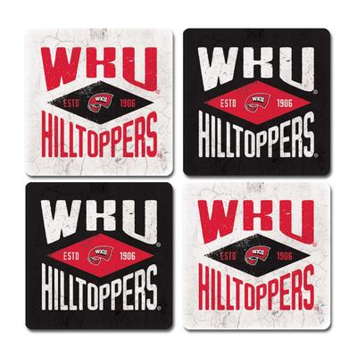 Western Kentucky Legacy Diamond Coaster Set - 4 Pack