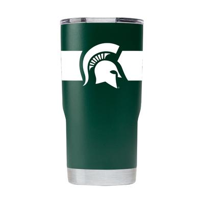 Michigan State Gametime Sidekick 20oz Striped Tumbler With Lid