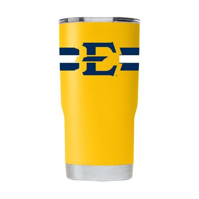 ETSU Gametime Sidekick 20oz Striped Tumbler With Lid