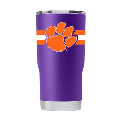 Clemson Gametime Sidekick 20oz Striped Tumbler With Lid