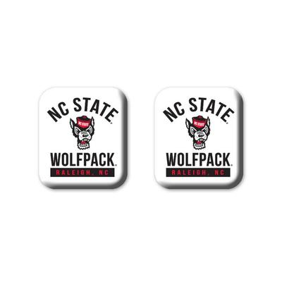 NC State Legacy Square Fridge Magnets 2 Pack