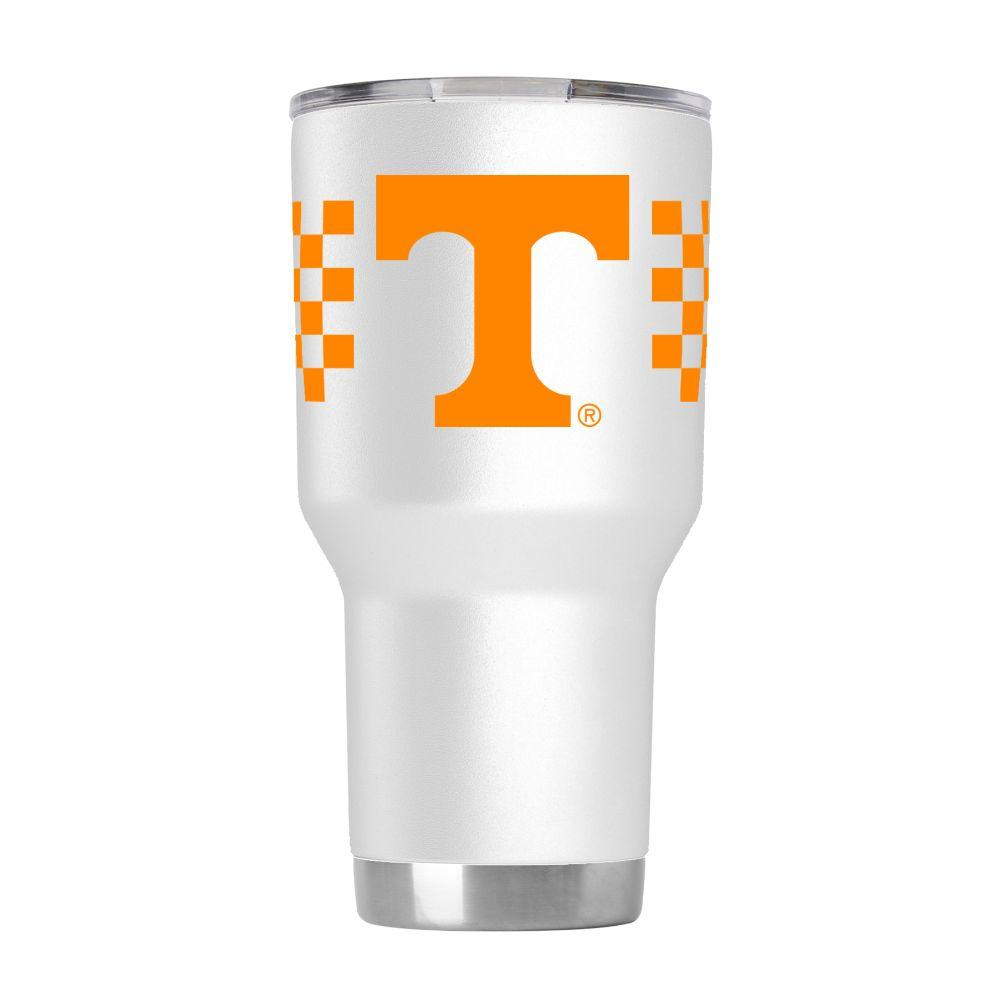 Tennessee Gametime Sidekick 30oz Checkerboard Striped Tumbler With Lid