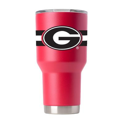 Georgia Gametime Sidekick 30oz Striped Tumbler With Lid