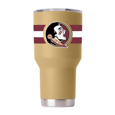 Florida State Gametime Sidekick 30oz Striped Tumbler With Lid