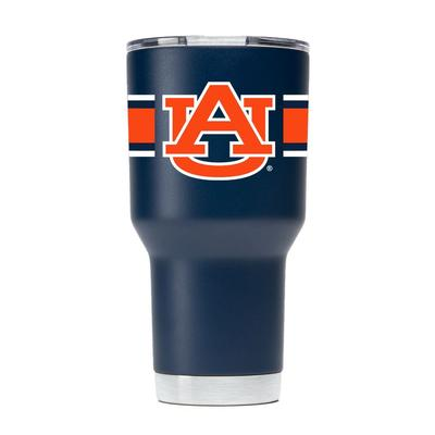 Auburn Gametime Sidekick 30oz Striped Tumbler With Lid