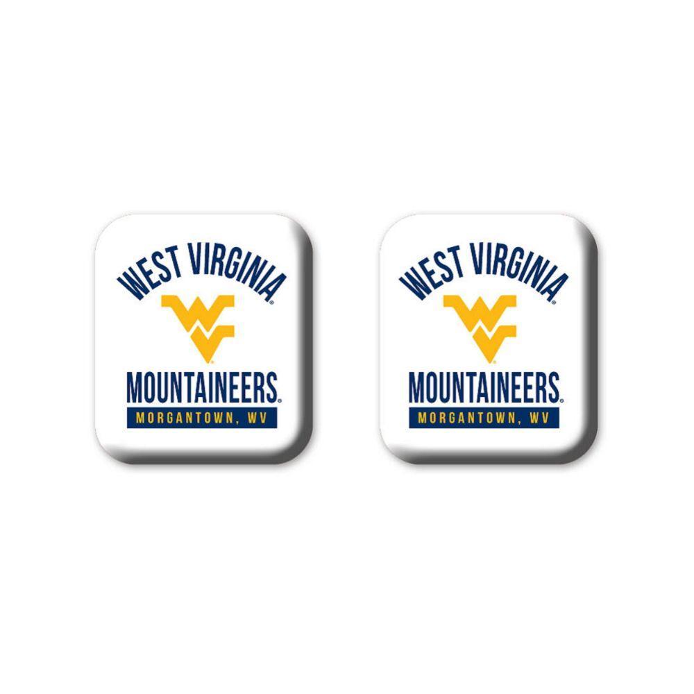 West Virginia Legacy Square Fridge Magnets 2 Pack