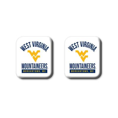 West Virginia Legacy Square Fridge Magnets 2 Pack