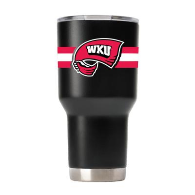 Western Kentucky Gametime Sidekick 30oz Striped Tumbler With Lid