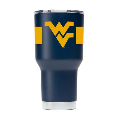 West Virginia Gametime Sidekick 30oz Striped Tumbler With Lid