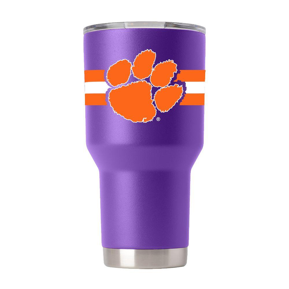 Clemson Gametime Sidekick 30oz Striped Tumbler With Lid