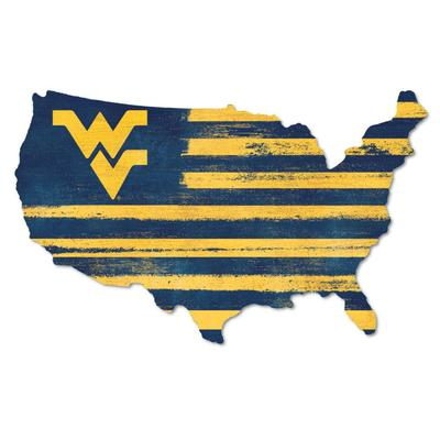 West Virginia Legacy USA Wooden Wall Mount Sign