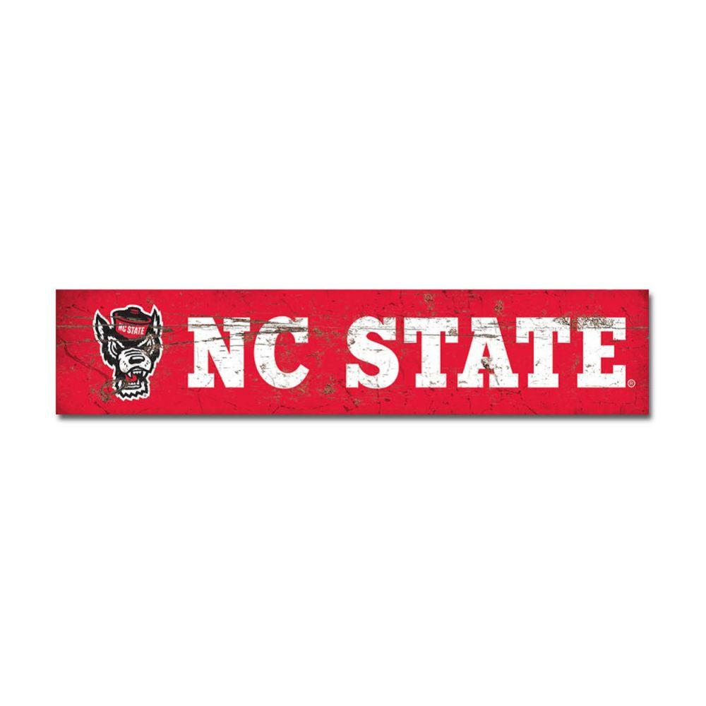 Nc State Legacy Table Top Stick - 2.5 X 12