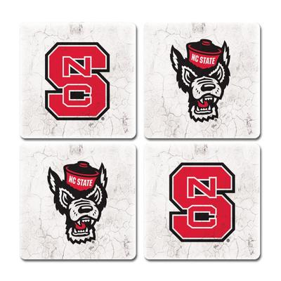 NC State Thirsty Coaster 4 Pack