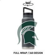 Michigan State Gametime Sidekicks 40 Oz.Stainless Steel Water Bottle