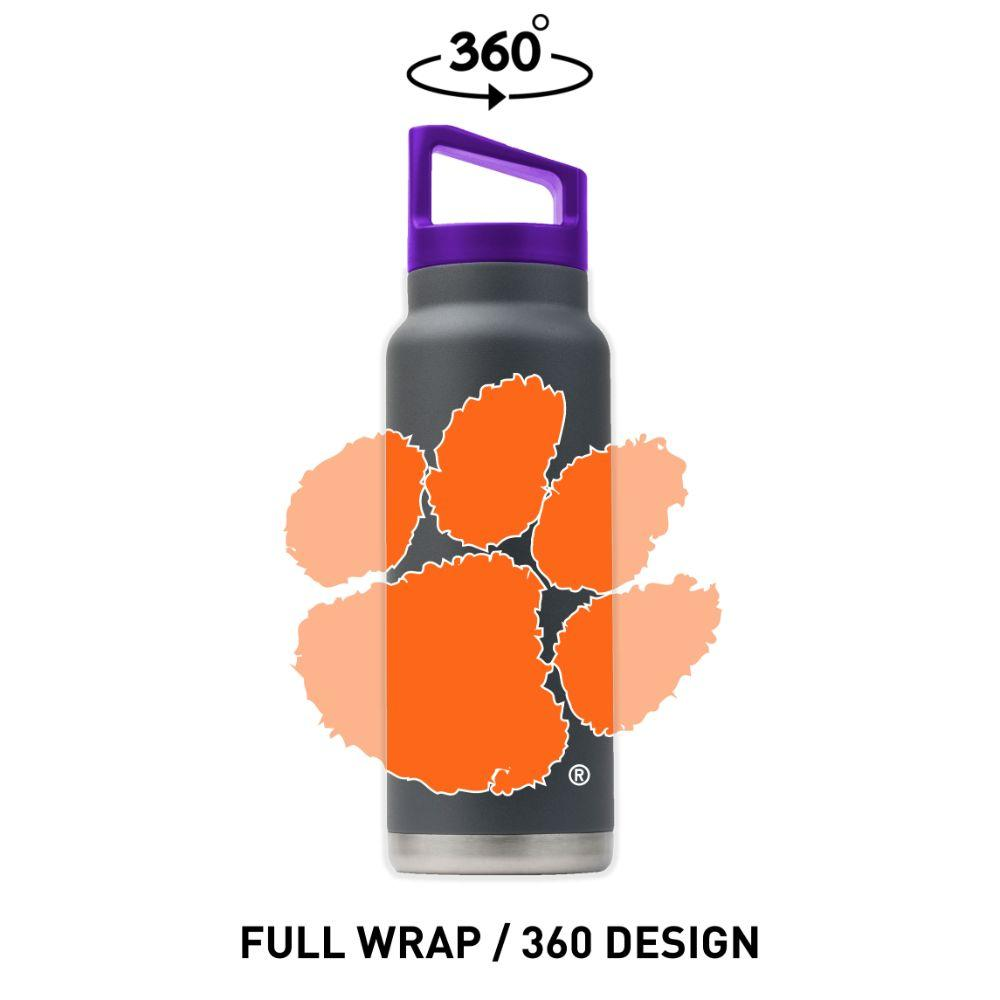 Clemson Gametime Sidekicks 40 Oz.Stainless Steel Water Bottle