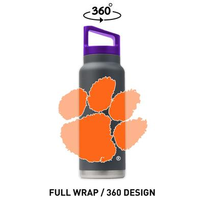 Clemson Gametime Sidekicks 40 Oz. Stainless Steel Water Bottle