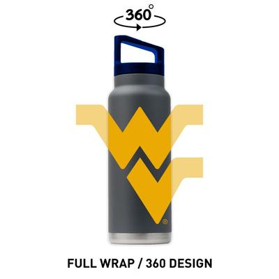 West Virginia Gametime Sidekicks 40 Oz. Stainless Steel Water Bottle