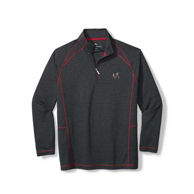 Georgia Tommy Bahama Final Score Half Zip Pullover