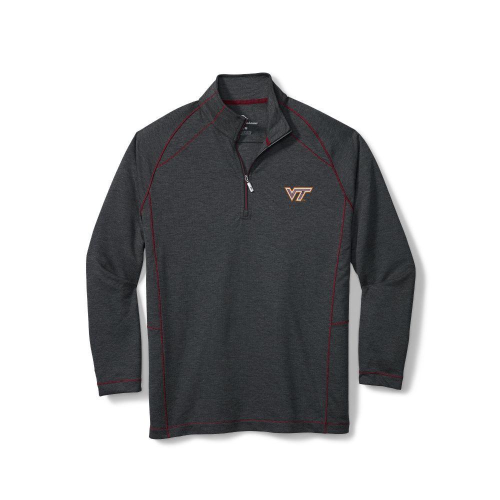 Virginia Tech Tommy Bahama Final Score Half Zip Pullover