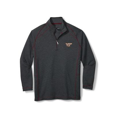 Virginia Tech Tommy Bahama Final Score Half Zip Pullover