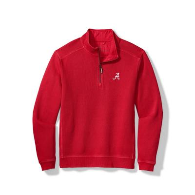 Alabama Tommy Bahama Nassau Half Zip Pullover
