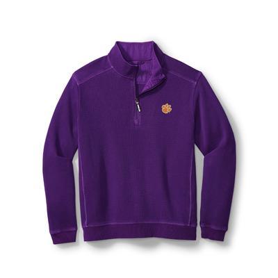 Clemson Tommy Bahama Nassau Half Zip Pullover