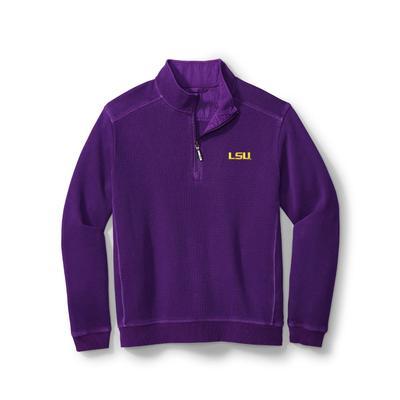 LSU Tommy Bahama Nassau Half Zip Pullover