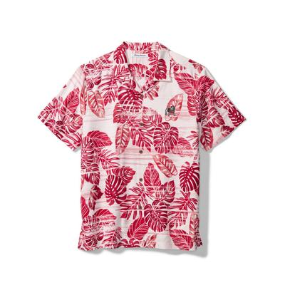 Georgia Tommy Bahama Silk Camp Shirt CHILI_PEPPER