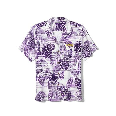 LSU Tommy Bahama Silk Camp Shirt