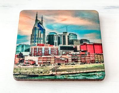 Preserve Press Downtown Nashville Riverfront Coaster