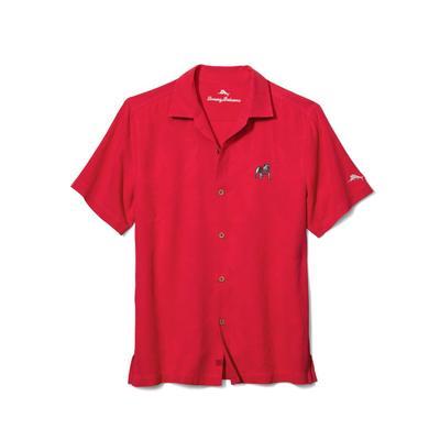 Georgia Tommy Bahama Al Fresco Tropics Camp Shirt RED