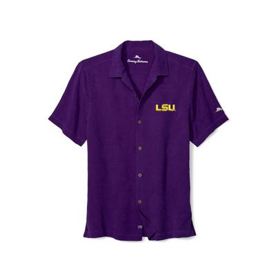 LSU Tommy Bahama Al Fresco Tropics Camp Shirt