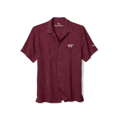 Virginia Tech Tommy Bahama Al Fresco Tropics Camp Shirt