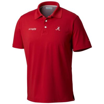 Alabama Columbia PFG Skiff Cast Polo RED_VELVET