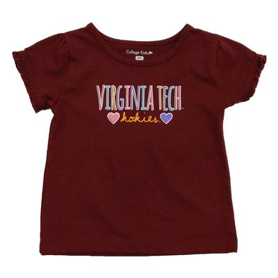 Virginia Tech Toddler Girls Ruffle T-Shirt