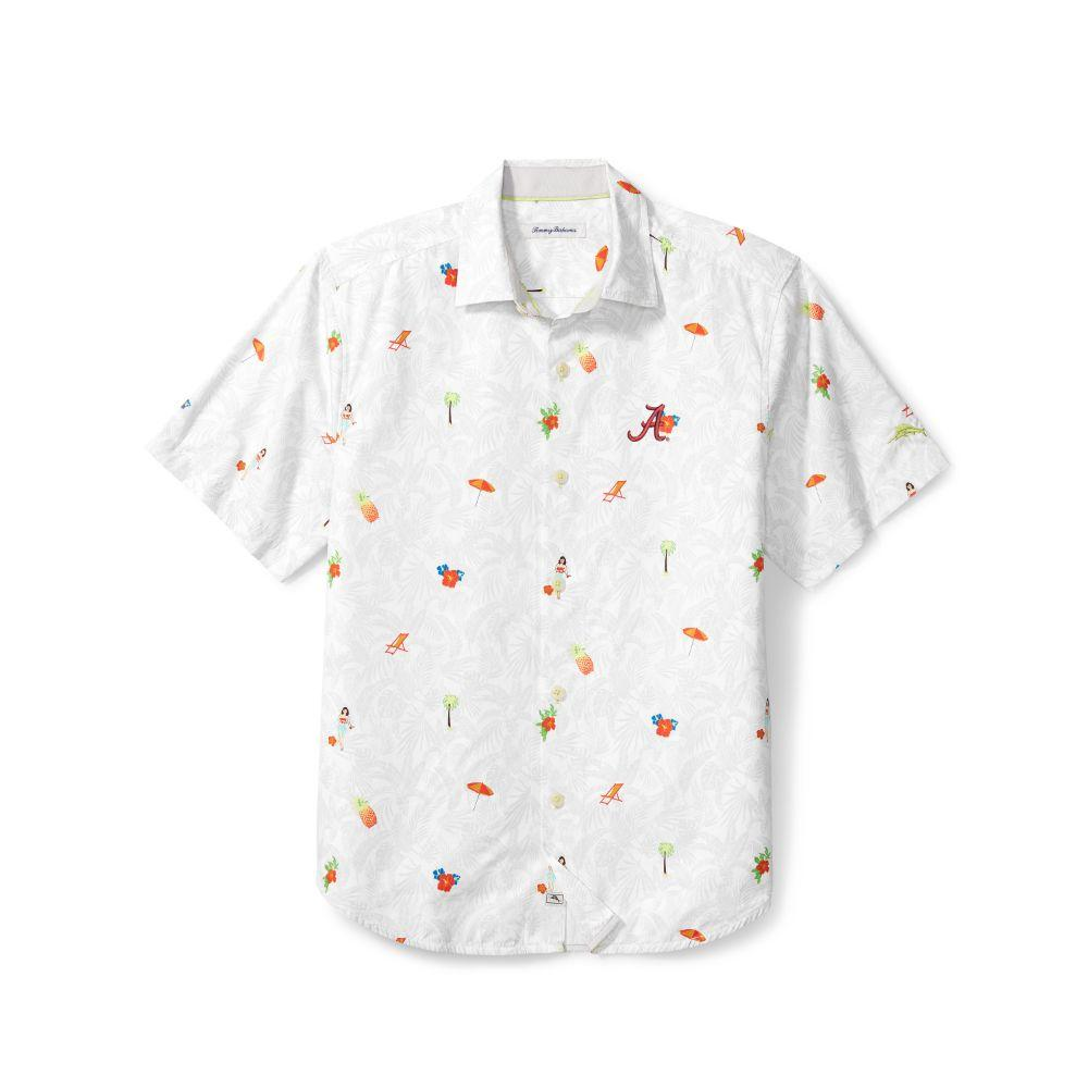 Alabama Tommy Bahama Beach Cation Printed Camp Shirt