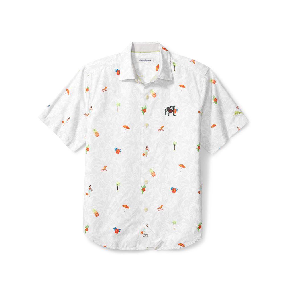 Georgia Tommy Bahama Beach Cation Printed Camp Shirt