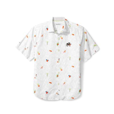 Georgia Tommy Bahama Beach Cation Printed Camp Shirt